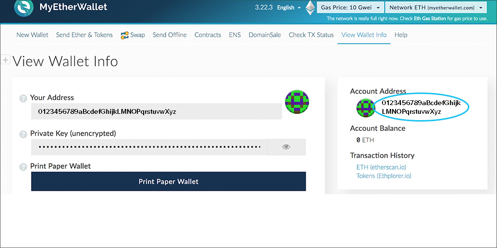 MyEtherWallet Screen 03